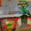 "Red Still Life  /  42"" x 52""  /  oil on canvas"